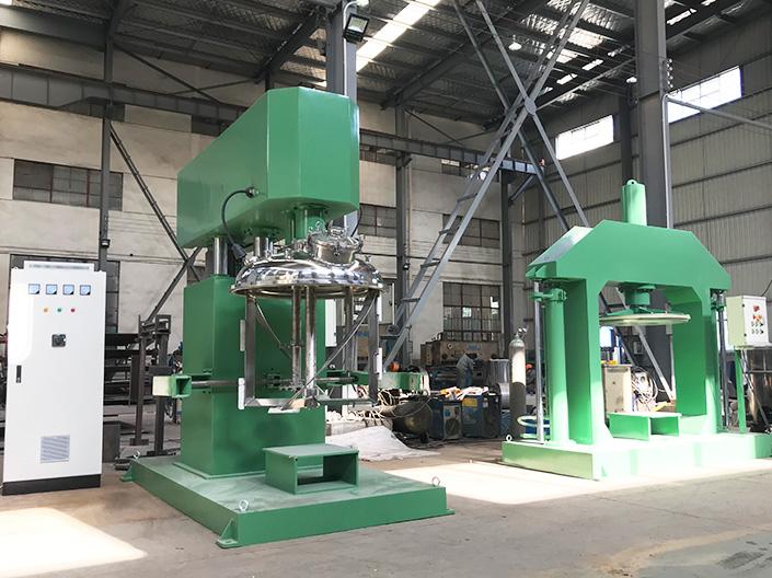 无锡银燕为某油墨制造公司提供双轴多功能搅拌机