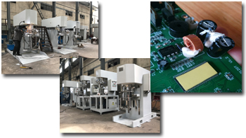 电子产品常用胶及高粘度搅拌设备简介