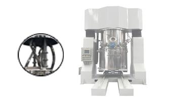 客户参观工厂咨询树脂搅拌机