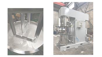 客户验收银燕立式双行星动力搅拌机 环氧胶搅拌机