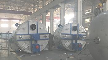 银燕双轴搅拌机用于氟化工行业产线
