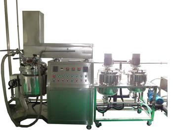 膏霜类产品生产设备真空均质乳化设备